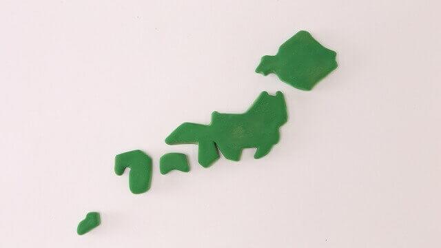 粘度で作った日本列島