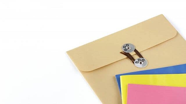 改定の資料が入った封筒